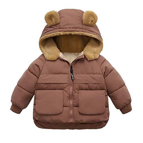 JKRTR Winter Mantel Winterjacke Mädchen Jung Neugeborenes kleikind babay Oberbekleidung verdickte mit spitzer Kapuze Trenchcoat Outerwear Steppjacke...