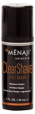 Mënaji Clear Shave with 3-in-1 Formula