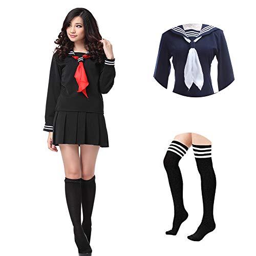 Nuoqi Sailor School Uniform Japanese Anime Lolita Sailor Suit Maniche Lunghe Scuola Uniforme