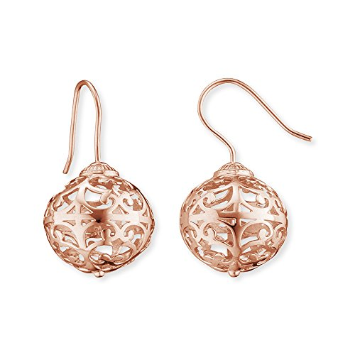 Engelsrufer Classic Ohrhänger für Damen rosévergoldetes 925er-Sterlingsilber Größe 15 mm