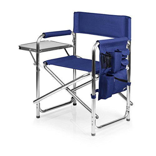 ONIVA - a Picnic Time brand Aluminum Sports Chair, Navy Blue