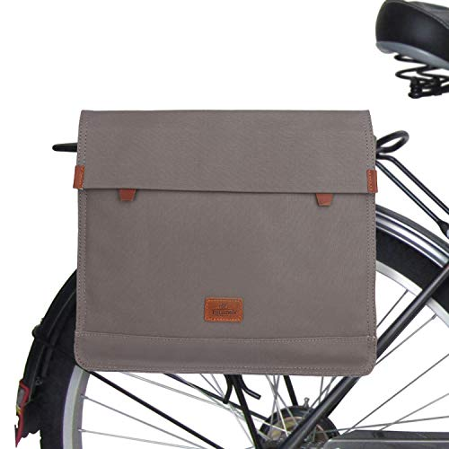 "Tourbon Water-resistant Canvas Laptop Bag Bike Messenger Pannier Backpack Shoulder Briefcase (For 13"" Laptop)"