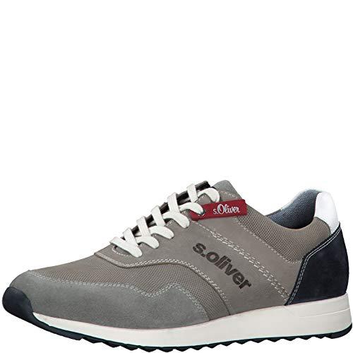 s.Oliver Herren Schnürhalbschuhe 13626-24, Männer sportlicher Schnürer, Sneaker schnürer sportlich freizeitschuh maennliche,Grey,41 EU / 7.5 UK