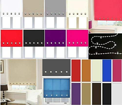 Trendi® witte rolgordijnen gemakkelijk te monteren Trimable Home Office venster vierkante oogje rolgordijn