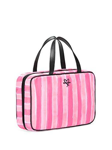 Victoria's Secret Pink Stripe Hanging Travel Case