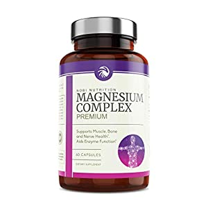 Nobi Nutrition High Absorption Magnesium Complex – Premium Magnesium Supplement for Sleep, Leg Cramps, Muscle Relaxation & Recovery – for Women & Men – 60 Vegan Capsules