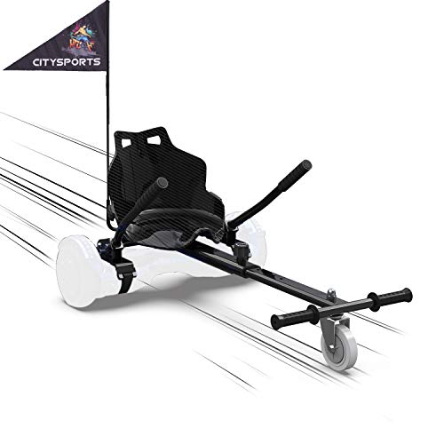 "MARKBOARD HoverKart pour Self-Balance Scooter/Kart Siège pour Gyropode, Scooter Électrique, Ajustable Compatible avec Scooter 6.5"", 8.5"", 10"" Scooters (Noir)"