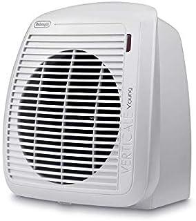 De'Longhi HVY1020 - Calefactor eléctrico, 2000 W, acero inoxidable/plástico, blanco