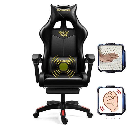 LFEWOZ Racing Computer Drehstühle Bequemer ergonomischer Studienstuhl Mesh Armchair Office für Executive Home Konferenzraum Schreibtisch