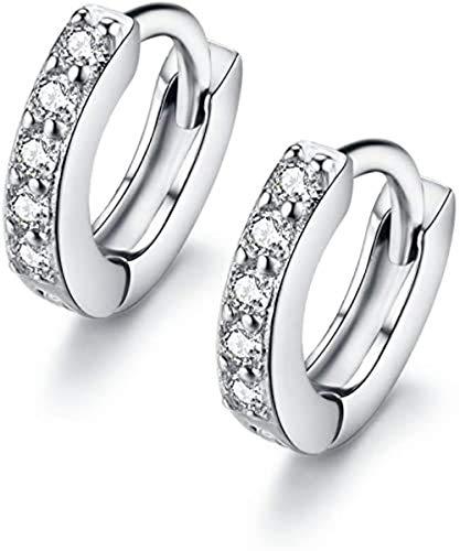 6mm Small Tiny Mini Hoop Earrings Cubic Zirconia Ear Cuff for Cartilage Pierced Women Teen Girls Huggie Tiny Hoops