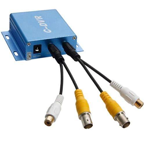 Grabador de vídeo digital DVR de tamaño mini, portátil, 1canal de vídeo y entrada y salida de audio, tarjeta microSD, conector para cámara