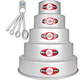 Fat Daddio's Anodized Aluminum Tiered Round Cake Pans Bundle with a...