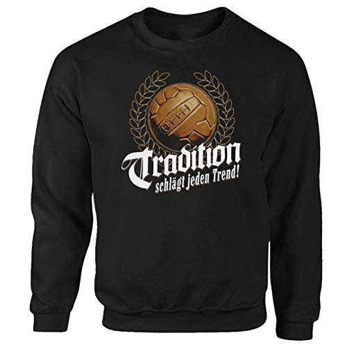 Fussball Tradition Ultras Fanatics schwarz Pullover Sweatshirt (M)