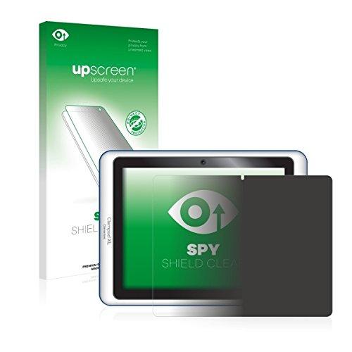 upscreen Spy Shield Clear Blickschutzfolie / Privacy für Clementoni Clempad XL 6+ 69377.1 (2014) (Sichtschutz ab 30°, Kratzschutz, selbstklebend)