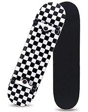 "HUADUO Patineta Completa para Principiantes, Adolescentes, niños, niñas, 31""x 8"", Tabla de Skate con Maple Cruiser Pro Skateboards Longboards, Penny Skateboard."