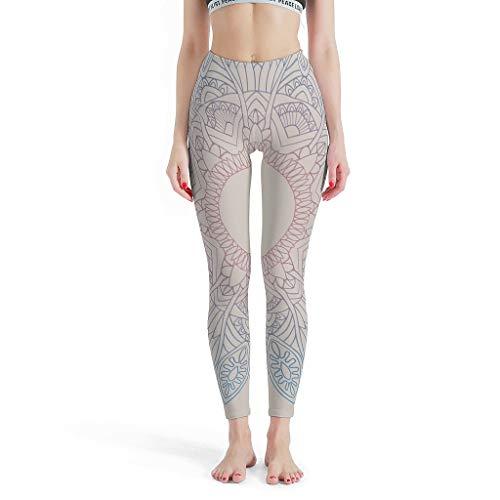 O5KFD & 8 dames thema fitness legging dames 4-weg stretch loopbroek slimming gradient amandela yoga broek workout fitness modieuze legging dames - mandela kunst