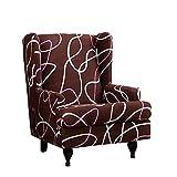 DOOGL Cubierta de Silla Impresa con ala Impresa, Cubierta de sofá de patrón Moderno, sillón para Funda Protector de...