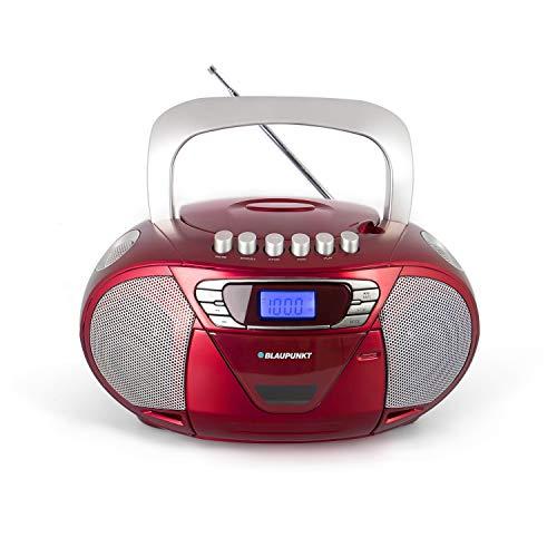 BLAUPUNKT Boombox 11 PLL tragbarer Kassettenrekorder CD-Radio, Hörbuch Funktion mit Kassettenplayer, Aux In, Kopfhöreranschluss, LED-Display, 2x 2,2 Watt RMS, PLL UKW Tuner,  Kinder CD Player