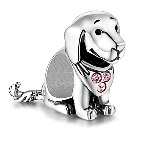 Labrador Hund Charm - Sterling Silber S925 Charm für Pandora Damen Armband