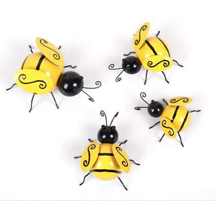 YANFANG ColecciN Metal Decorativo Bumble Bee Acentos JardN Adornos para CSped,Metal Garden, Decorativos De Abejorros Metal, CSped