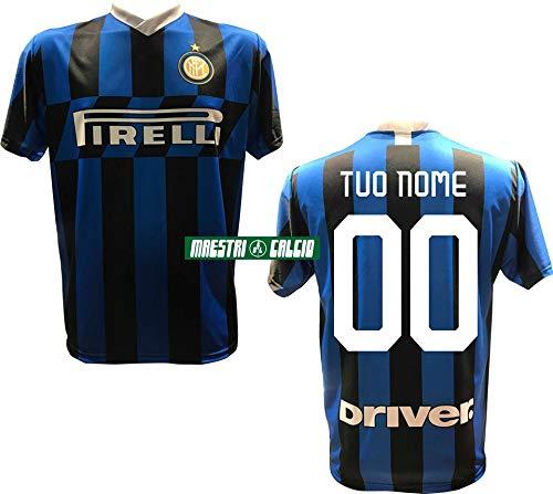 F.C. Inter Maglia Replica Calcio Home Nero Blu Ufficiale Autorizzata Personalizzata Personalizzabile 2020 Eriksen Godin SKRINIAR BARELLA LUKAKU LAUTARO Vidal Adulto e Bambino