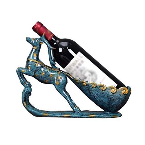 XUSHEN-HU Estante de la Botella de Vino en Rack Inicio Estante del Vino Creativo Resina Ciervos Estante de la Botella Sala Estante del Vino Decoración Muebles Hogar