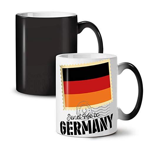 Wellcoda Allemagne Voyage Drapeau Vacances Tasse à Couleurs changeantes, Monde Tasse - Grande, poignée Facile à saisir, activée par la Chaleur, idéal pour Les buveurs de café et de thé de