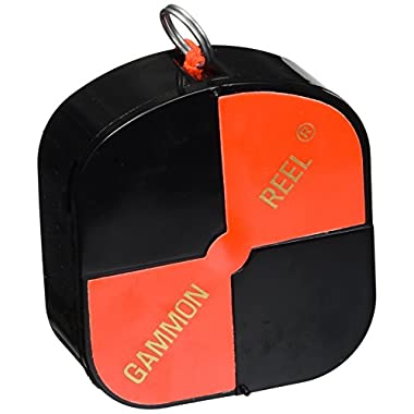 CST/Berger 11-728 12' Hi-Viz Gammon Reel - Black & Orange Target String