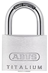 The ABUKA54586 Keyed Titalium Padlocks have the following specifications: Size: 40mm. Dimensions: 40 x 62 x 22mm. Strong, lightweight and innovative TITALIUM special aluminium alloy