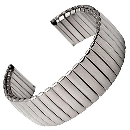 HPTQJ Correa de Banda de Reloj de Acero Inoxidable Correa de Metal elástico Banda de Metal Mate pulverizada Pulida Pulida Regalo cálido (Size : 22mm)