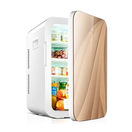Armadi frigorifero Frigo auto mini frigo casa singola porta dual-core armadietto di immagazzinaggio di refrigerazione frigorifero dormitorio Vetrine frigorifere ( Color : Gold , Size : 35*31*46.5cm )