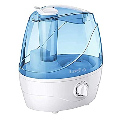 HemingWeigh Air Humidifier - Cool Mist Humidifier with Adjustable Output Nozzle - 2.2 Liter Humidifiers for Home Safely Operate All Night - For the Baby Nursery, Small Room, or Large Areas