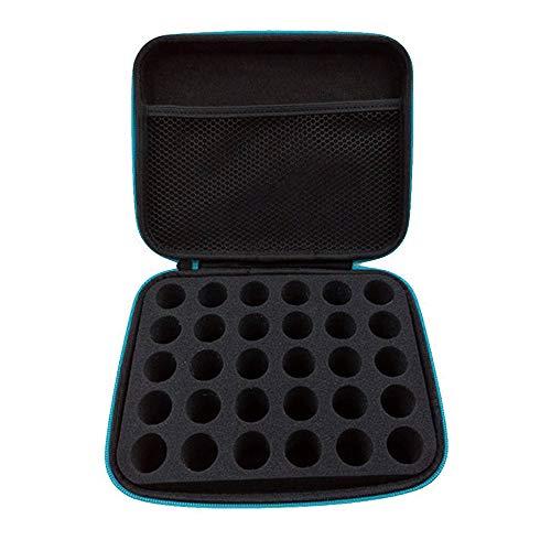 Donpow Trousse portable pour huiles essentielles contenant 30 bouteilles d'huiles essentielles de 15 ml 22 x 17 x 8 cm Violet bleu