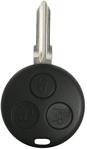 Liamgate Ersatz Schlüsselgehäuse-mit-Rohling geeignet für Smart-Schlüssel-mit-3-Tasten