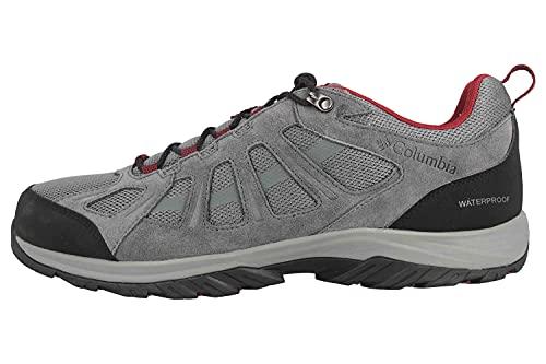 Columbia Redmond III Waterproof, Zapatillas para Caminar Hombre, Ti Gris Acero Negro, 42 EU