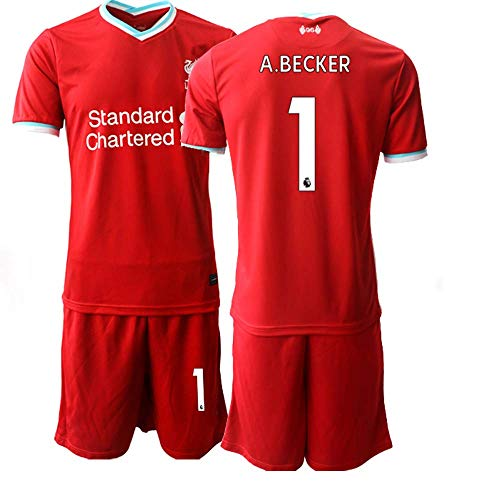 JEEG 20/21 Kinder A.Becker 1# Fußball Trikot Jugend Trainings Anzug T-Shirt Set (Kinder Größe 4-13 Jahre) (28)