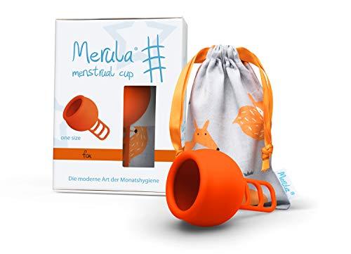 Merula Cup fox (orange) - One size Menstruationstasse aus medizinischem Silikon