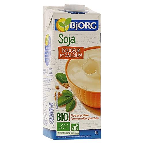 Bjorg Boisson Soja Douceur et Calcium Bio – Boisson végétale – Riche en protéines – 1 L