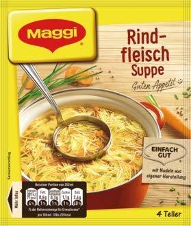 Maggi Guten Appetit Suppe Rindfleisch, 18er Pack (18 x 85 g)