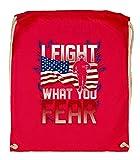 Druckerlebnis24 - Bolsa de tela para hacha, diseño de bombero americano, color rojo, tamaño talla única