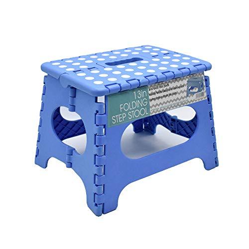 WEIFU 踏み台 ステップ 折りたたみ ステップ台 折りたたみチェア 耐荷重150kg 収納持ち運び便利 滑り止め 大人/子供兼用(ブルー)