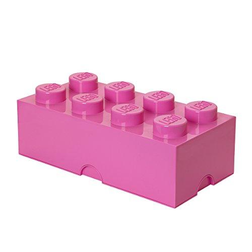 LEGO Aufbewahrungsstein, 8 Noppen, Stapelbare Aufbewahrungsbox, 12 l, rosa