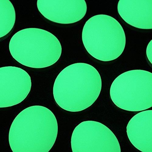 brillent dans le noir lumineux artificielle DIY décoratifs Pebble pierres 2x2.5cm Yellow Green s