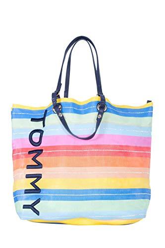 Tommy Hilfiger Summer Tote Strandtasche AW0AW06781 Bunt getreift
