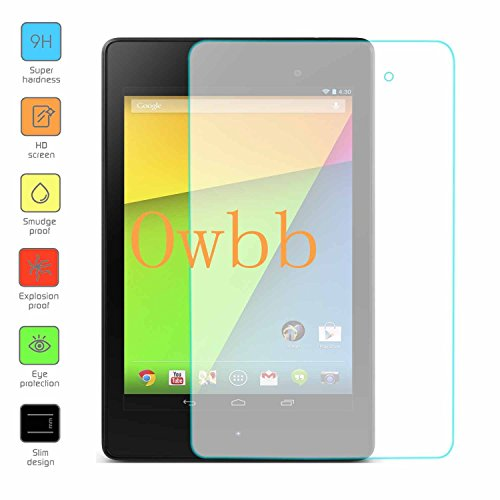 Owbb Glas Display Schutzfolie für Asus Nexus 7 1A020A (7 inch) Tablet Panzerglas Protector Hartglas Schutzfolie
