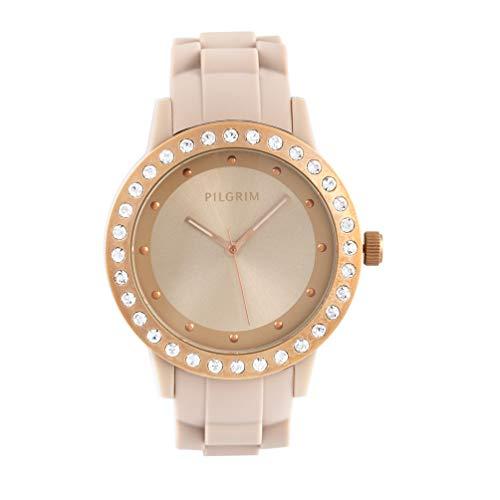PILGRIM 9701634710 - Reloj de pulsera para mujer (movimiento de cuarzo, silicona)