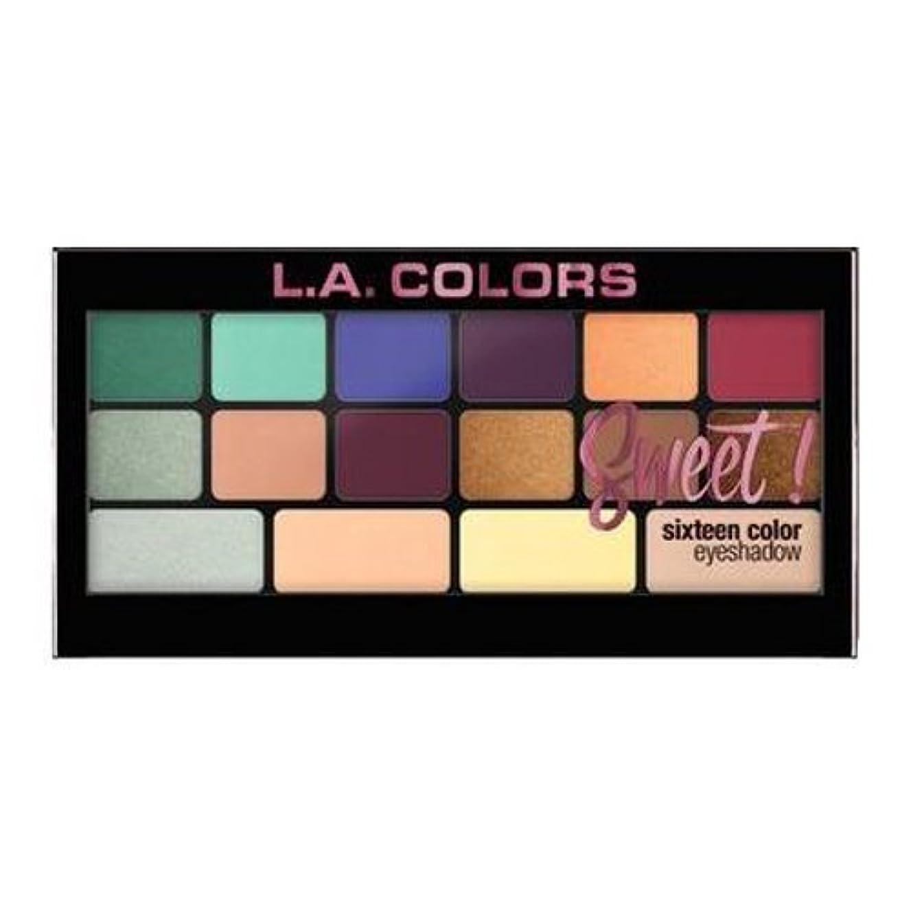 起きろ熱ポンプ(6 Pack) L.A. Colors Sweet! 16 Color Eyeshadow Palette - Playful (並行輸入品)