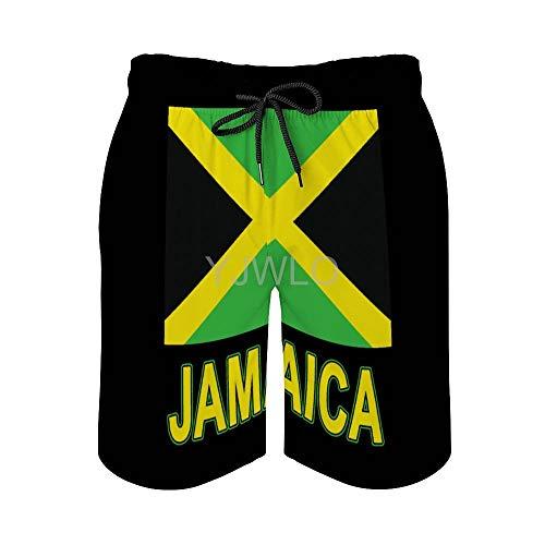 YJWLO Jamaica Badehose mit Kordelzug, elastischer Bund, schnelltrocknend Gr. XL, stil 1