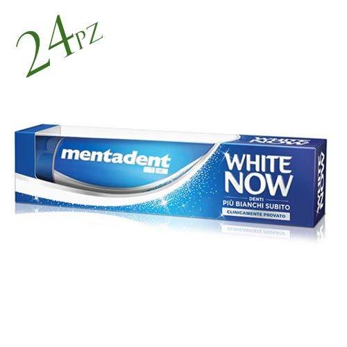 24 x MENTADENT Dentifricio White Now Classico 75 Ml