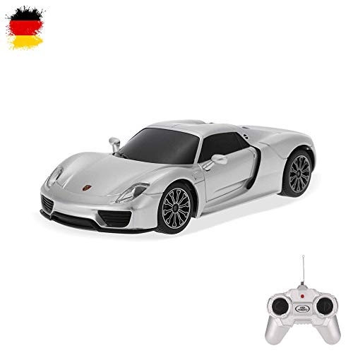 HSP Himoto Porsche 918 Spyder - RC ferngesteuertes Lizenz-Fahrzeug im Original-Design, Modell-Maßstab 1:24, Ready-to-Drive, Auto inkl. Fernsteuerung